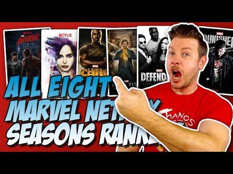 All 8 Marvel Netflix Seasons Ranked Worst to Best (w/ Jessica Jones Season 2)