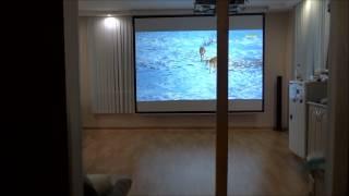Кинотеатр дома(Акция! Всего за 49800 рублей: видеопроектор, экран, крепление, провода, монтаж и настройка под ключ!!! Доставка..., 2014-10-18T20:12:40.000Z)