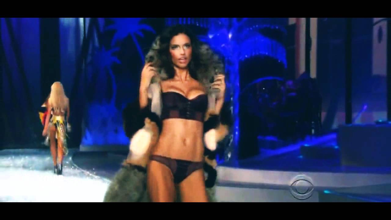 14d29bfcc7153 Adriana Lima Victoria's Secret Runway Compilation HD