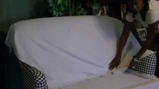 DIY Sofa Slip Cover Easy Tutorial Pt 1