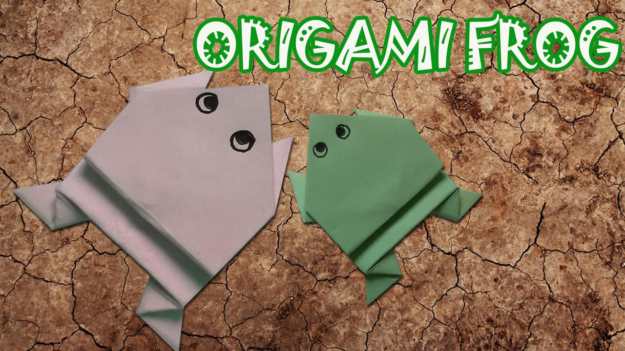 Origami frog jumping frog origami easy youtube origami frog jumping frog origami easy jeuxipadfo Images