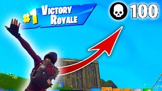 IK MAAK 100 KILLS IN FORTNITE BATTLE ROYALE!