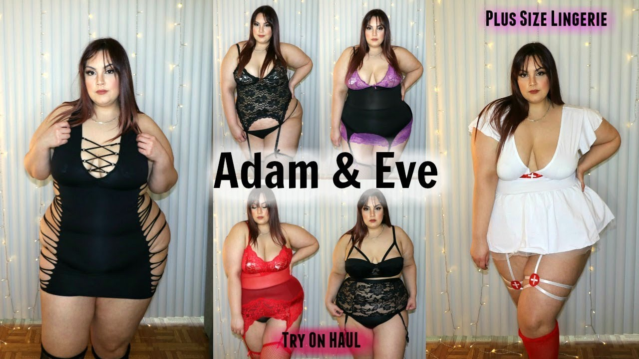 e41349430 Adam   Eve PLUS SIZE Lingerie Try-On Haul