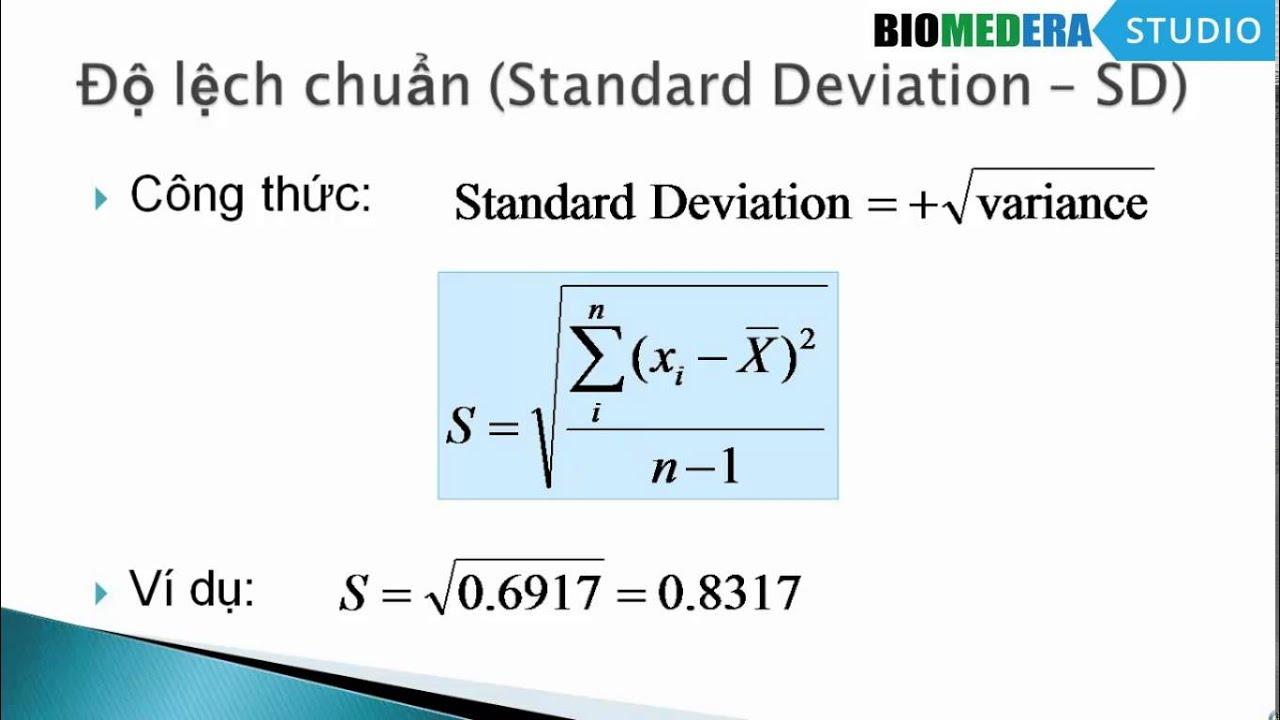 [Thống kê căn bản] Bài 4: Phương sai và độ lệch chuẩn, công thức tính và ý nghĩa thống kê