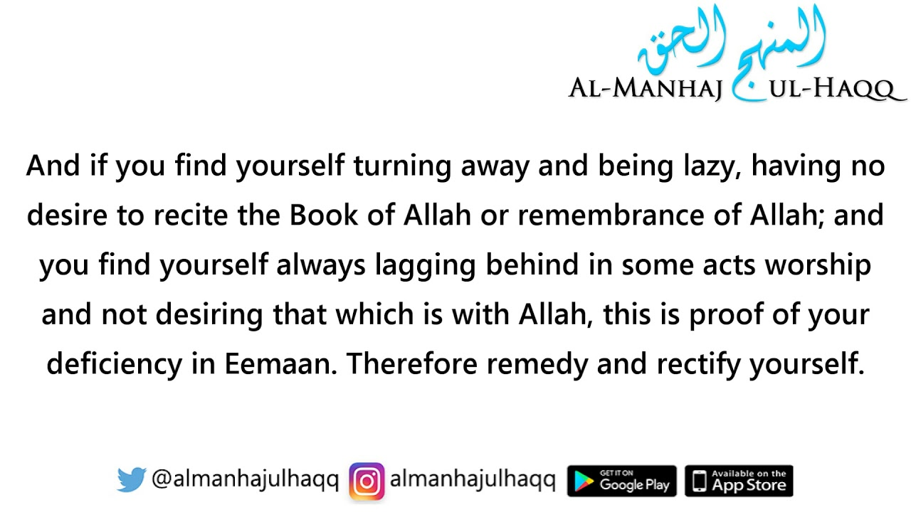 recognize if your eemaan is increasing or decreasing by shaykh