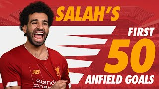 Mo Salah39s first 50 Liverpool goals at Anfield  Chelsea Roma Man City and more