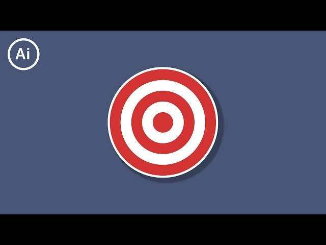 How to Make a Bullseye Target | Illustrator Tutorial