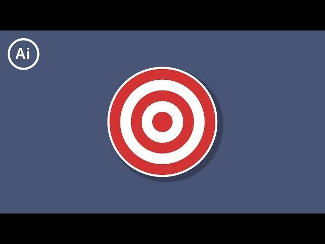How to Make a Bullseye Target | Illustrator Tutorial