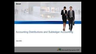 Microsoft Dynamics AX: la Comptabilité des distributions et des livres auxiliaires) de la comptabilité