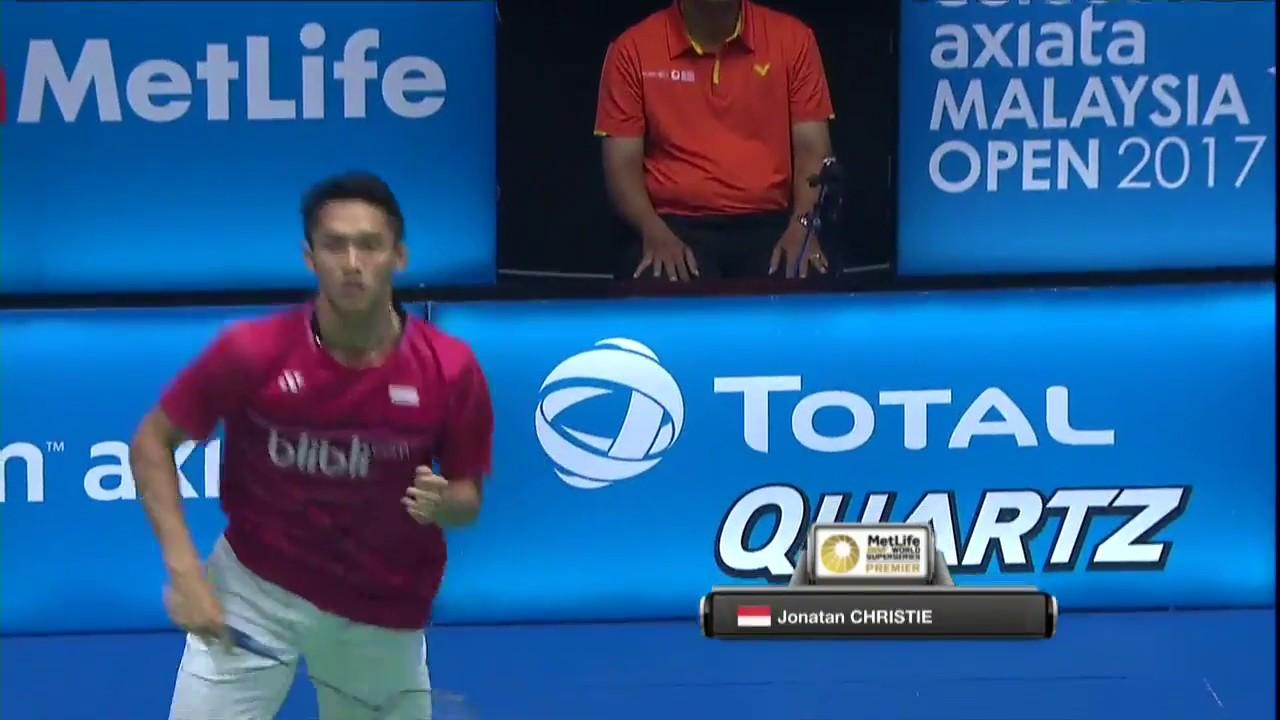 Celcom Axiata Malaysia Open 2017 Badminton Qf M5 Ms Lin Dan Vs Jonatan Christie Youtube