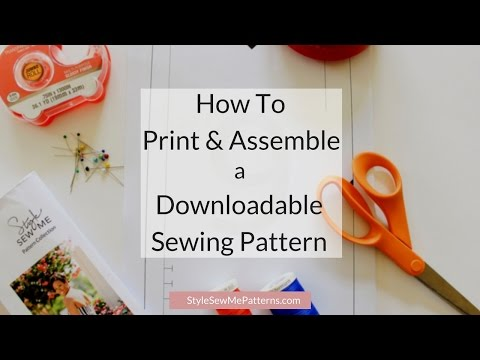 How to Assemble a Downloadable PDF Pattern