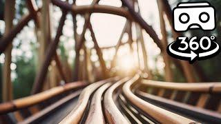 Дерев'яні гірки VR відео 180° 3D в лісі