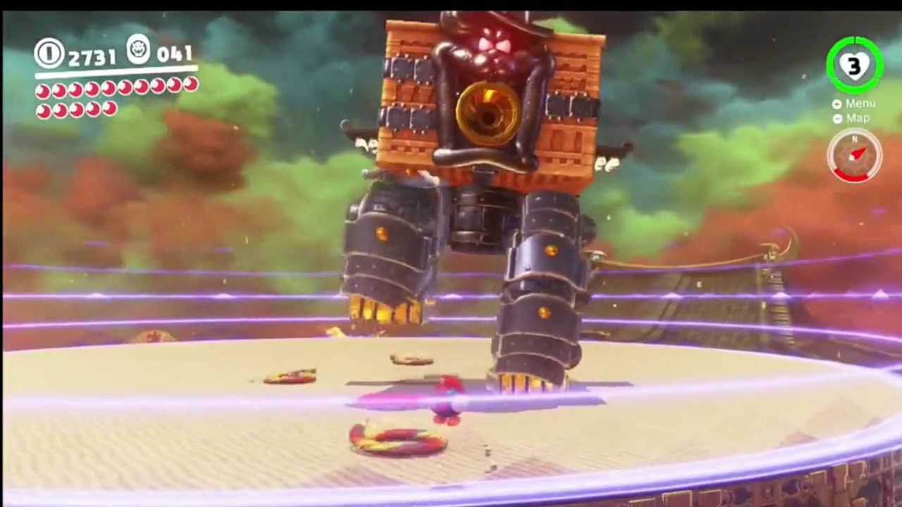 Mario Odyssey Showdown At Bowser S Castle Multi Moon Mission Last Fight With The Broodals Mech