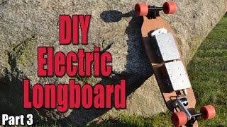 Make your own Electric Motorized Longboard (Part 3) - the wiring & remote control