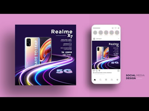 Social Media Post Design For Mobile Advertising   Social Media Template Design  Photoshop cc