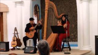 Arpa con alma latina, Santa Fe, harp and guitar