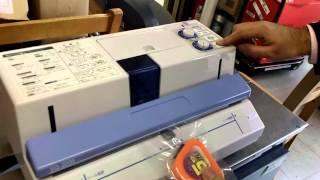 新品返品分卓上密封包装機 品番 SQ-203S 番号 Z-0633-7 thumbnail