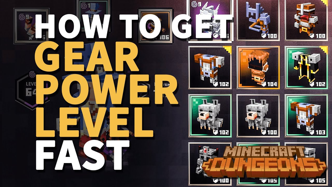 How To Increase Gear Power Level Fast Minecraft Dungeons From 30 100 Youtube