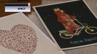 Пенсионерка из Бреста делает креативные открытки на белорусском языке