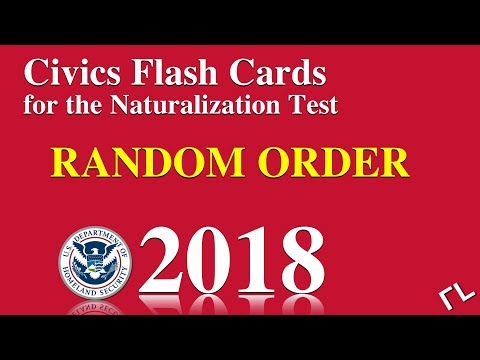 US Citizenship/Naturalization Test Questions in Random Order 2018 (All 100 Questions and Answers)