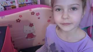 Распаковка  посылки  Школьный  портфель  Кулек Холодное  сердце Портмоне Видео  для  детей