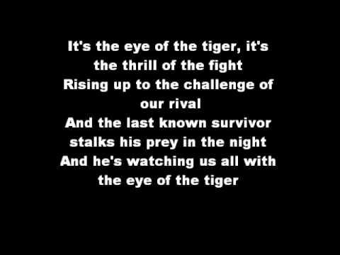 rocky eye of the tiger lyrics youtube. Black Bedroom Furniture Sets. Home Design Ideas