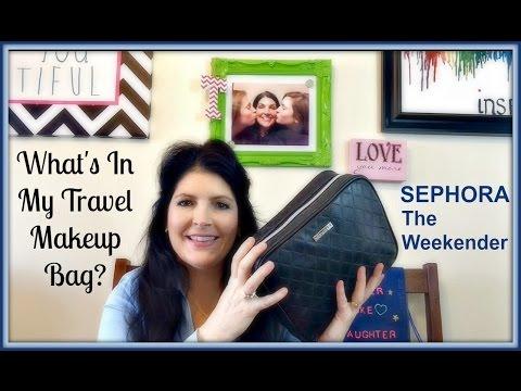 What's in my travel makeup bag - Sephora Weekender