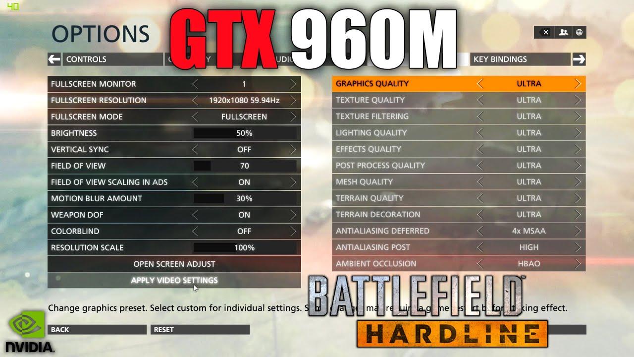 Gtx 960m тест в играх