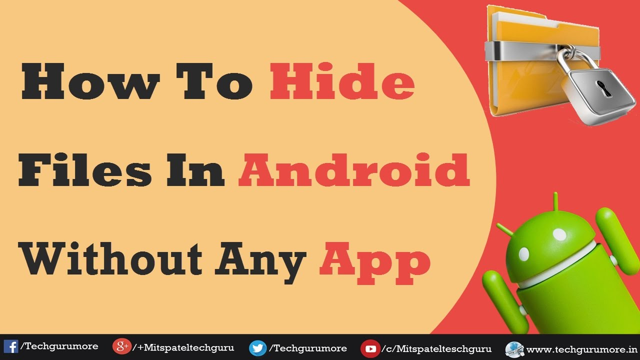 How to hide pictures on android without app