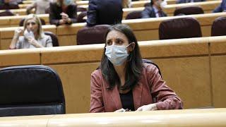 Rifirrafe en el senado tras acusar el PP a Irene Montero de estar