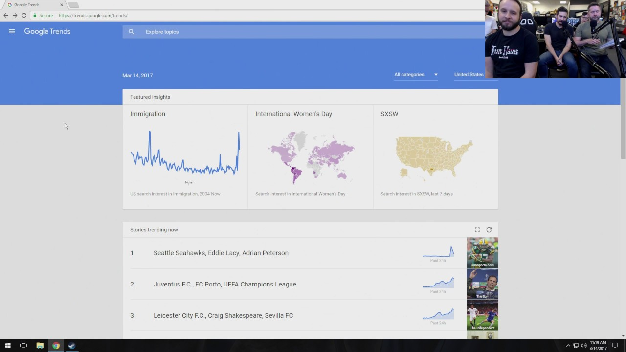 Google Trends LIVE with Burnie!  - Google Trends LIVE with Burnie!