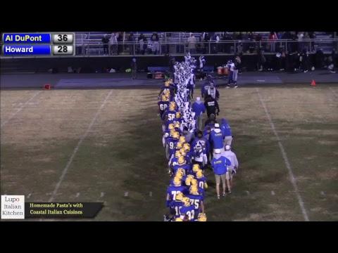 Howard visits AI DuPont DIAA Football Playoffs LIVE from AI DuPont