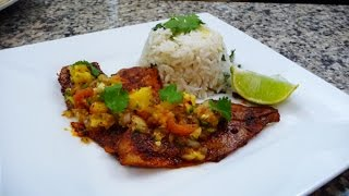 Cajun Style Fish Fillets With Pineapple Salsa