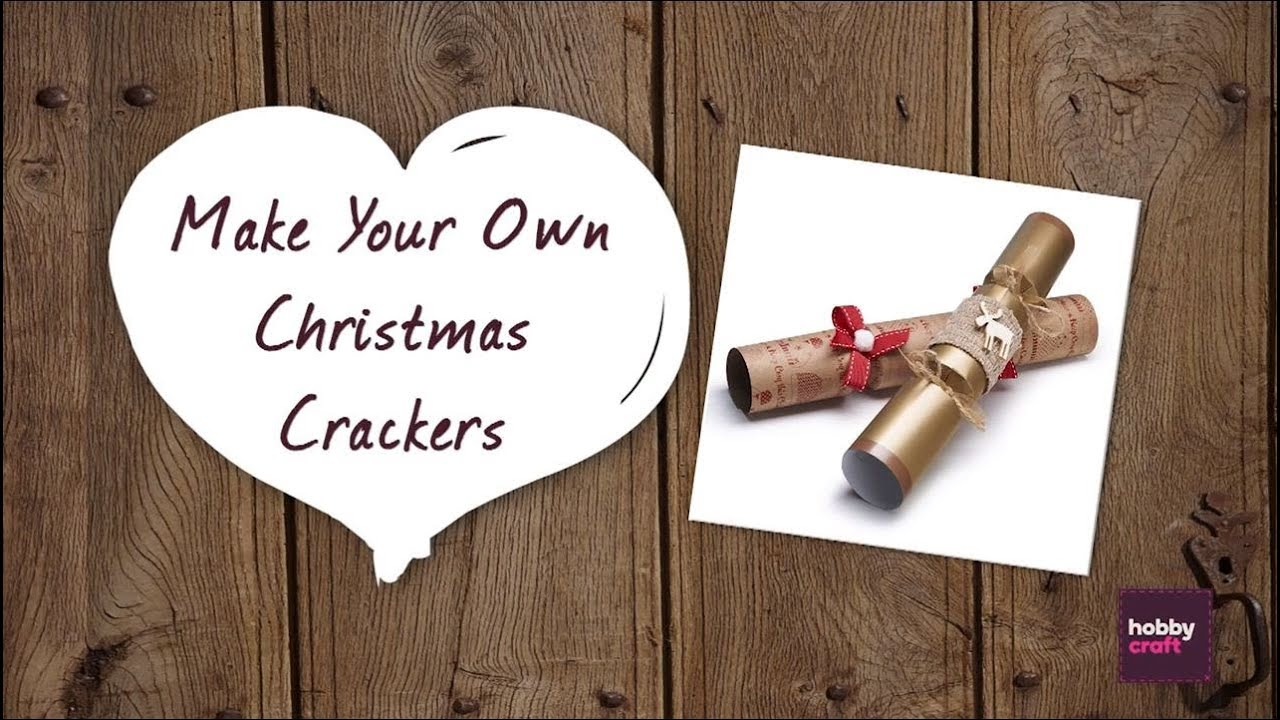 How to make your own christmas crackers hobbycraft youtube how to make your own christmas crackers hobbycraft solutioingenieria