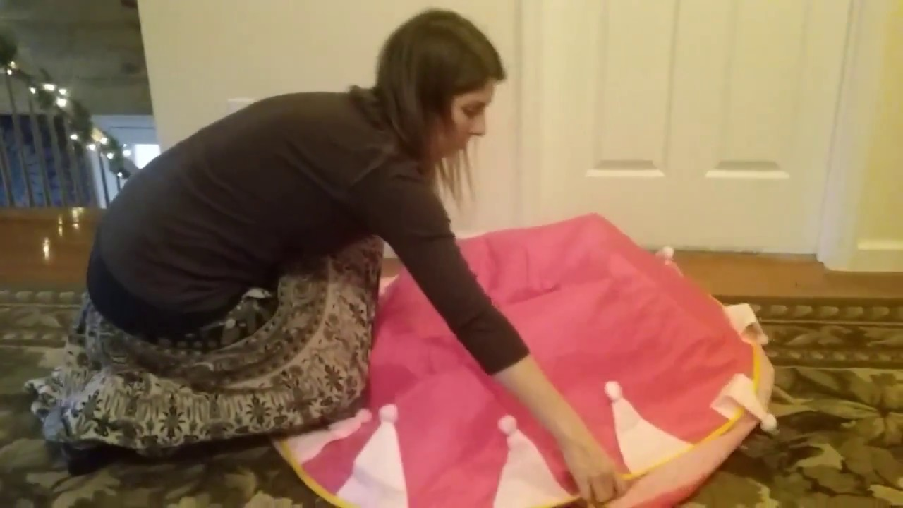 How to fold the Pinky Princess Princess Castle pop up tent : princess castle pop up tent - memphite.com