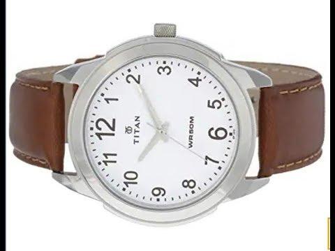 (AMAZON )TitanWATCH Titan Analog White Dial Men's Watch -1585SL07C