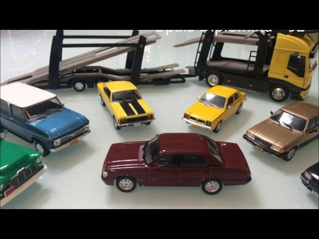 Miniaturas de carros em metal 1:43 - Modelos Importados e GM nacionais