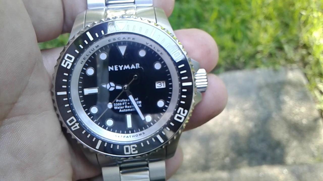 6b03ff0d7 Neymar 1000m diver auto 44mm - YouTube