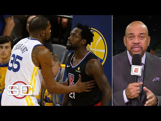 Michael Wilbon on Kevin Durant-Patrick Beverley ejection, Amir Johnson cell phone   SportsCenter