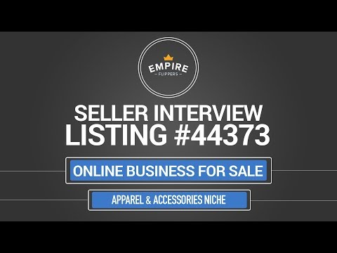 Online Business For Sale – $25.6K/month in the Apparel & Accessories Niche