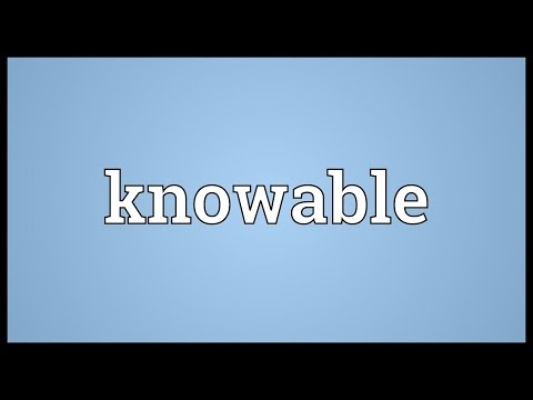 Header of knowable