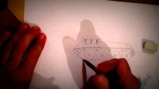 Как нарисовать танк карандашом(В этом видео я рассказываю как надо нарисовать танк. Хочешь зарабатывать в интернете за один день 120 руб..., 2016-04-03T14:26:32.000Z)