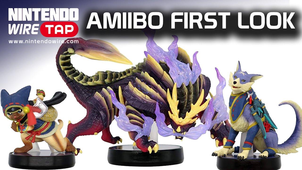 Amiibo First Look! | Monster Hunter Rise amiibo revealed + New Conker Merch | Nintendo Wiretap