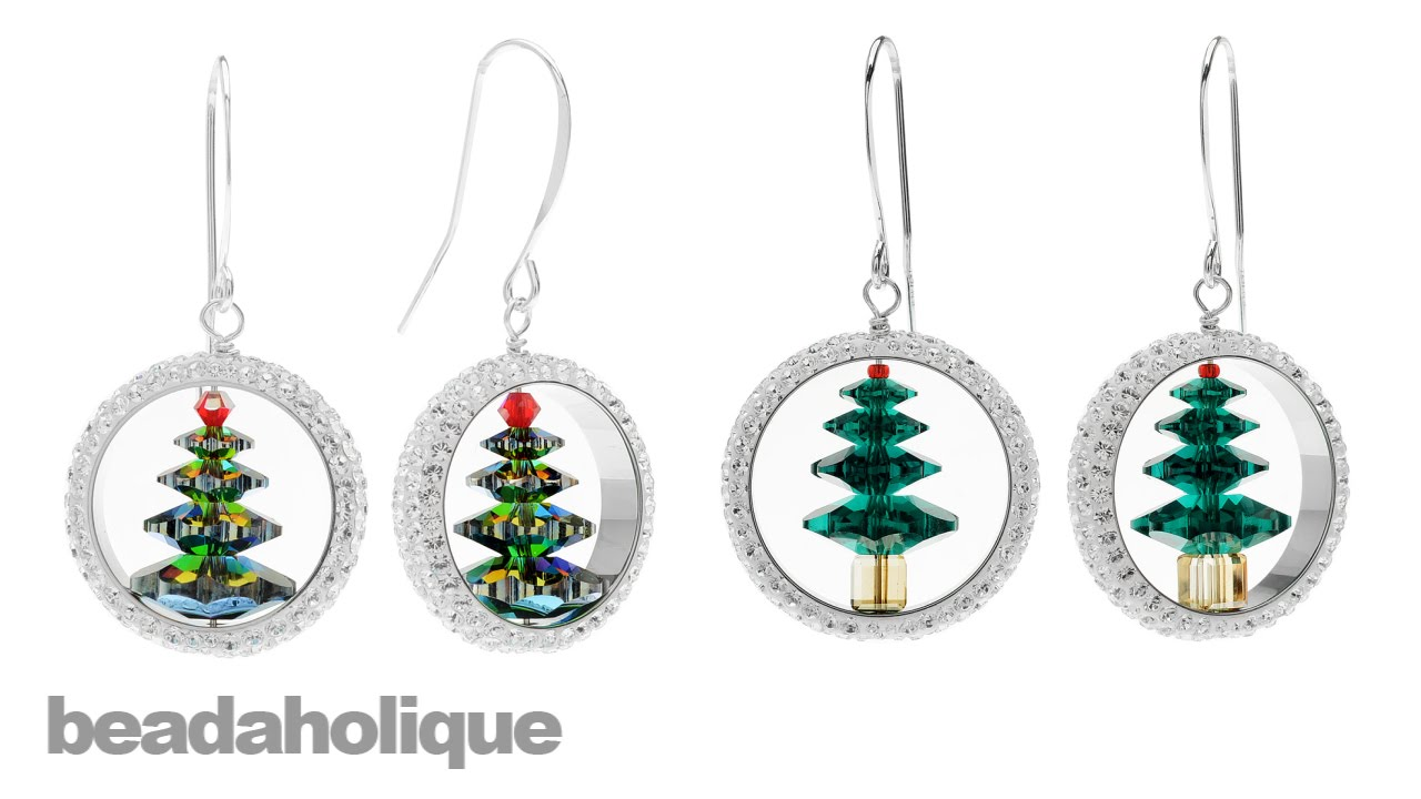 christmas tree earrings seasonal image jewelry