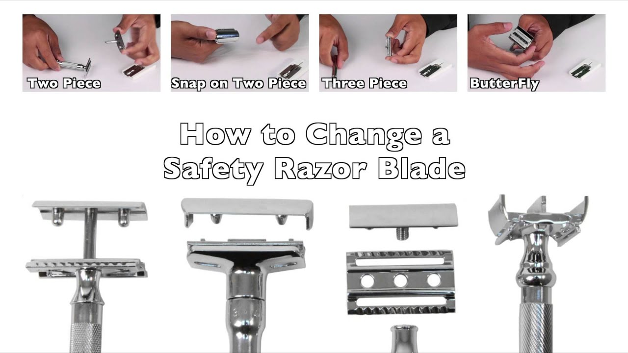 How To Change A Safety Razor Blade Youtube