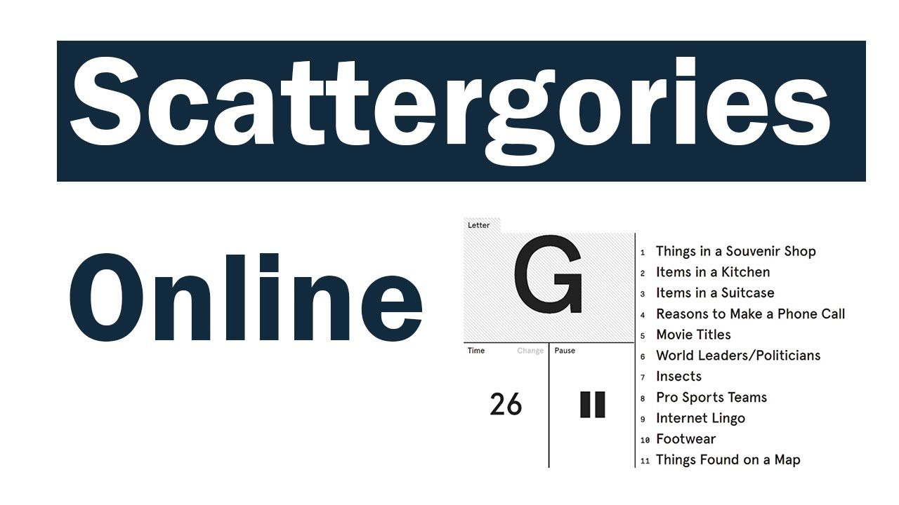 Scattergories Online Great Online Game For Class Youtube