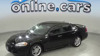 C99593TR Used 2016 Chevrolet Impala Limited LTZ FWD 4D Black SedanTest Drive, Review, For Sale