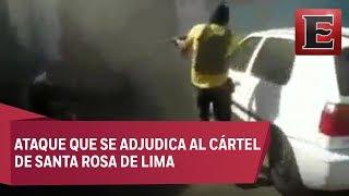 Revelan video completo del ataque a vulcanizadora en Guanajuato