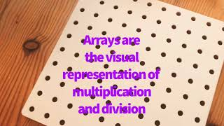 Arrays - Mrs Holdstock Teaching and Learning ideas