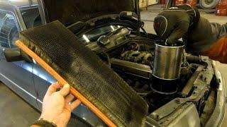 Замена масла и фильтров Mercedes W124 Changing Engine Oil & Filter